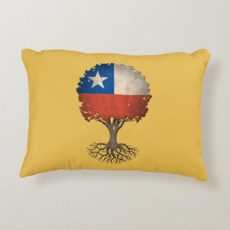 Chilean Flag Tree of Life Customizable Decorative Pillow