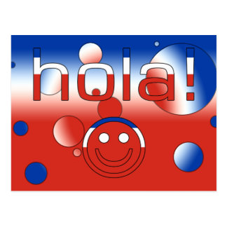 Chilean Gifts : Hello / Hola + Smiley Face Postcard