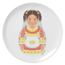 Chilean Girl Matryoshka Plate