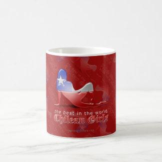 Chilean Girl Silhouette Flag Coffee Mug