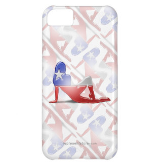 Chilean Girl Silhouette Flag iPhone 5C Case