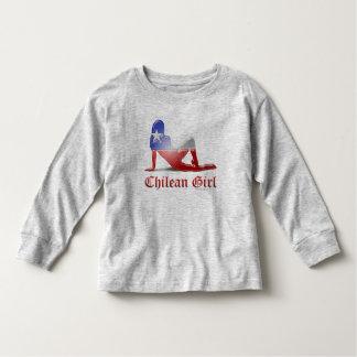 Chilean Girl Silhouette Flag Toddler T-shirt