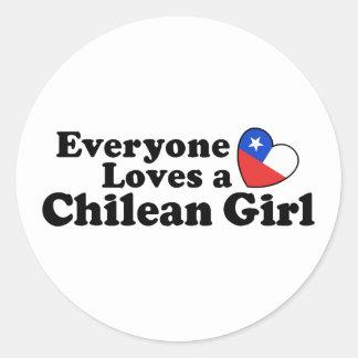 Chilean Girl Sticker