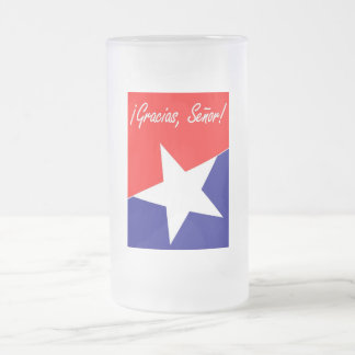 Chilean Miners Gracias, Señor! 16 Oz Frosted Glass Beer Mug