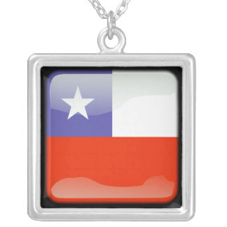 Chilean polished silver plated necklace