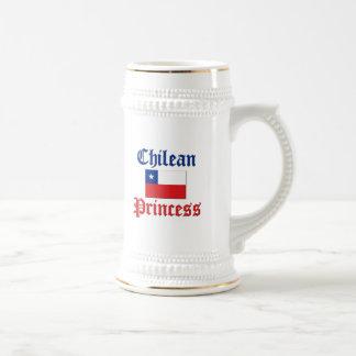 Chilean Princess 18 Oz Beer Stein