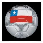Chilean Soccer Ball Poster