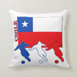 Chilean Soccer Players Throw Pillow