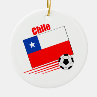 Chilean Soccer Team Ceramic Ornament
