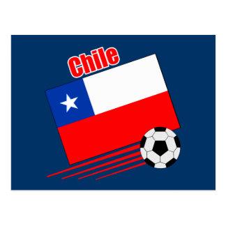 Chilean Soccer Team Postcard