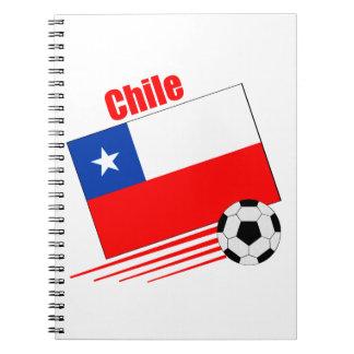 Chilean Soccer Team Spiral Notebook
