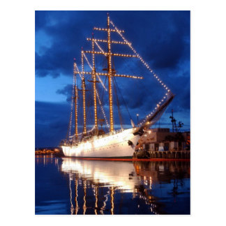 Chilean Tall Ship Esmeralda Postcard