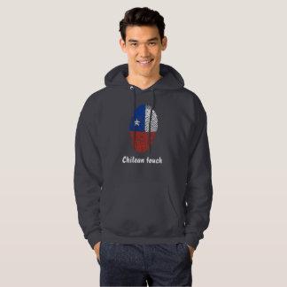 Chilean touch fingerprint flag hoodie