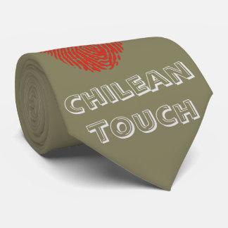 Chilean touch fingerprint flag tie