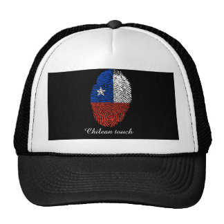 Chilean touch fingerprint flag trucker hat