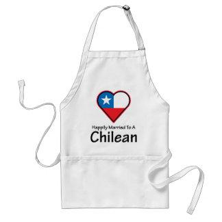 Chileno feliz casado delantales
