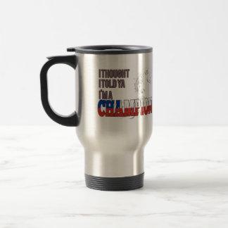 Chileno y un campeón taza de viaje de acero inoxidable