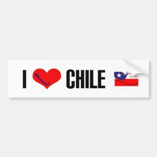 Chilenos en USA logo bumpter sticker