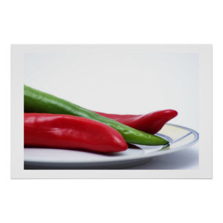 Chiles calientes póster