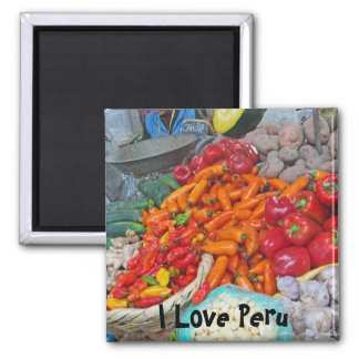 Chiles & More 2 Inch Square Magnet