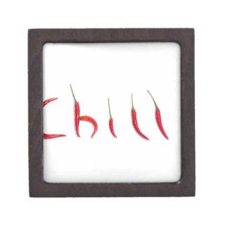 chiles rojos calientes y picantes cajas de recuerdo de calidad