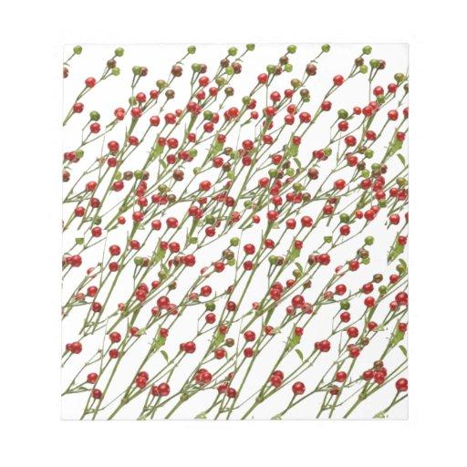 Chiles rojos exóticos - colección estupenda del co blocs de notas