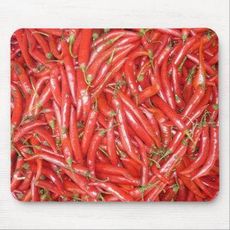 chiles rojos alfombrillas de ratón