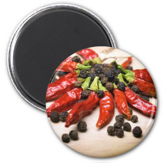 Chili and pepper magnet