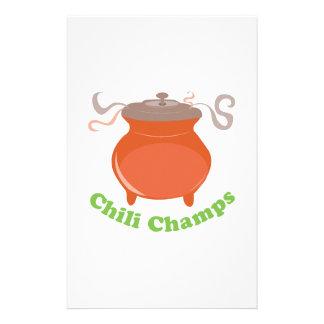 Chili Champs Stationery