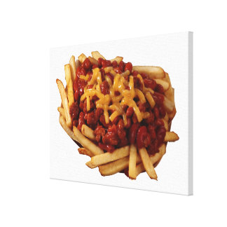 Chili cheese fries canvas print