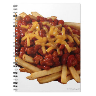 Chili cheese fries spiral notebook