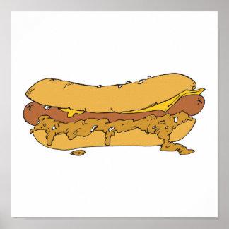 chili cheese hot dog poster
