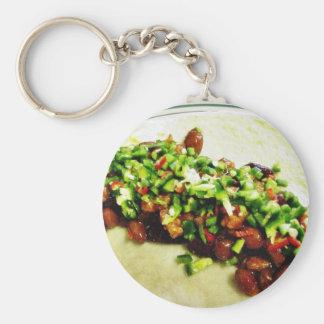 Chili Chillies Burrito Basic Round Button Keychain