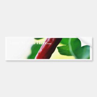 Chili Chillies Peppers Car Bumper Sticker