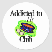 Chili Classic Round Sticker