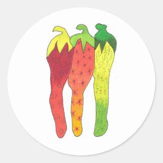 Chili Color Classic Round Sticker