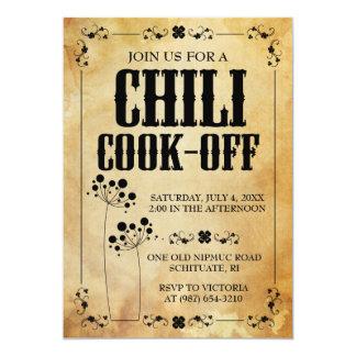 Chili Contest Invitations ~ Chilli Cookout Invite