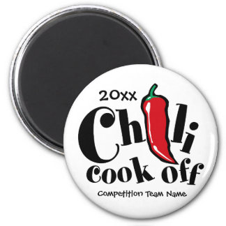 Chili Cook Off 2 Inch Round Magnet
