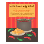 Chili Cook Off Announcment Flyer