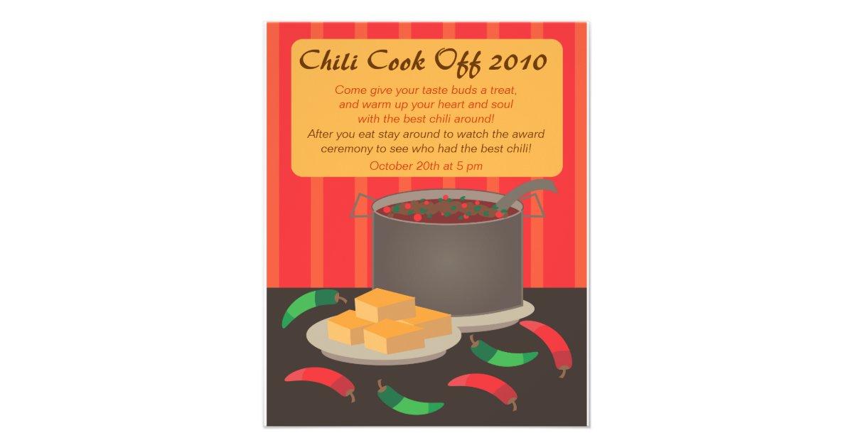 Chili cook off announcment flyer zazzle saigontimesfo