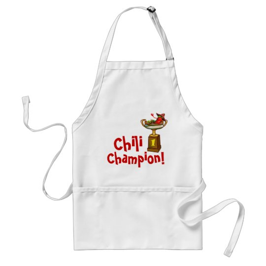 Chili Cook Off Champion Apron Zazzle Com