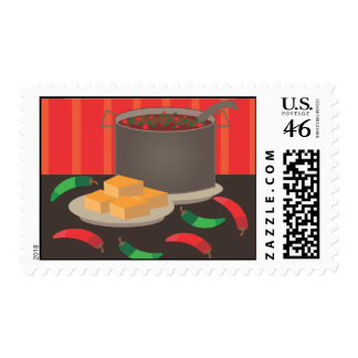 Chili Cook Off Postage Stamp