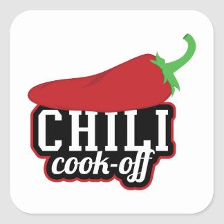 Chili Cook-Off Square Sticker