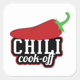 Chili Cook-Off Square Sticker