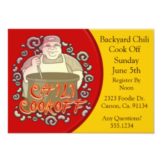 Chili Cook Off Stirring The Pot Card