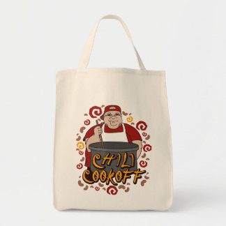 Chili Cookoff Grocery Tote Bag