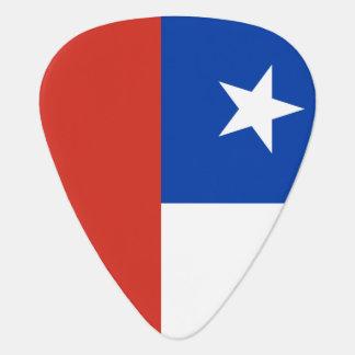 Chili flag guitar pick for Chilean musicians