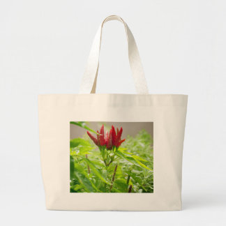 Chili flower large tote bag