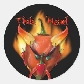 Chili Head Devil Classic Round Sticker