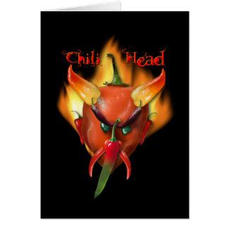 Chili Head Devil Greeting Card